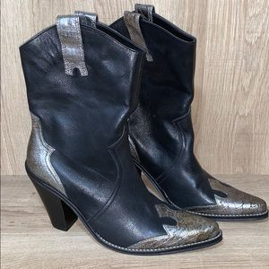 Penny Loves Kenny Leather Croc Ranger West Boot